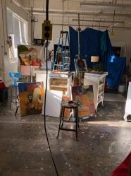 My daughters work space in Oil Painting STUDIO